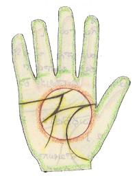 lettre M dans la main Magic M illustration