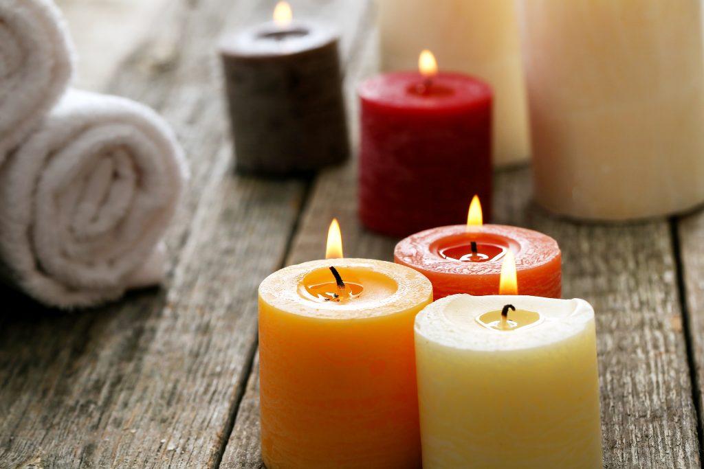 créer un coin méditation avec des bougies