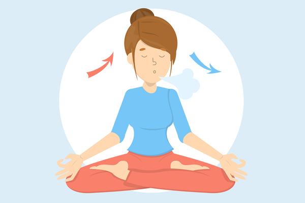 Exercice de respiration méditation bouddhique