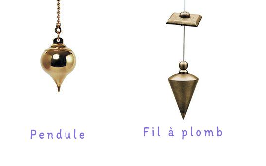 Initiation au pendule différence entre pendule et fil à plomb